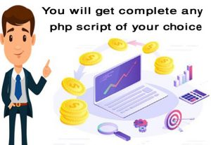 You Will Get Complete Any Php Script Of Your Choice