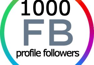 1000 REAL and ACTIVE Facebook Profile Followers