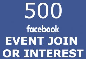 Send You 500 Facebook – Event Join Interested OR going HQ>Instant
