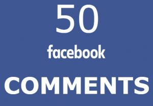 50 Facebook comments HIGH QUALITY REAL