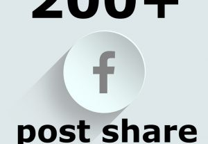 Add 200+ real human shares to any Facebook post