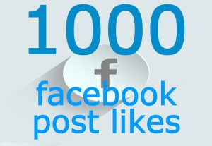 1000 facebook post likes from real and active user