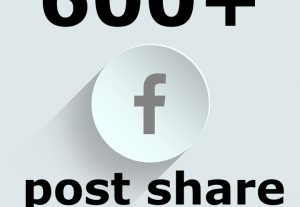 Get 600+ Facebook Post Share and it can be divided in several post