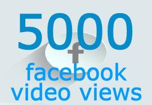 5000 Facebook Video Views Real Quality Non drop Guaranteed