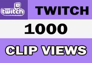 1000 Twitch Video Clip High Quality Views