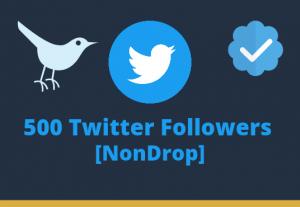 I will add 500 Twitter Followers lifetime guaranteed permanently organic promotion