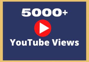 Add 5000+ YouTube Views Organically Lifetime Guaranteed Permanently