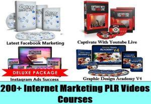 I will give 180 internet marketing HQ videos for social media