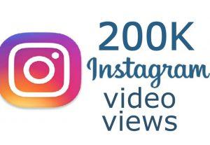 200,000 Instagram Non Drop Video Views