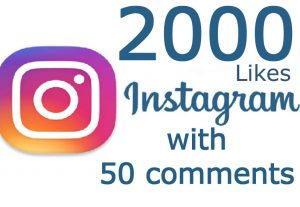 2000 Likes with 50 Comments On Instagram post (NON drop)