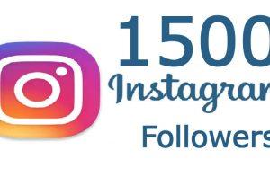 1500 Instagram Followers Non Drop worldwide