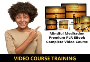 I Will give Mindful Meditation Premium PLR EBook Complete Video Course
