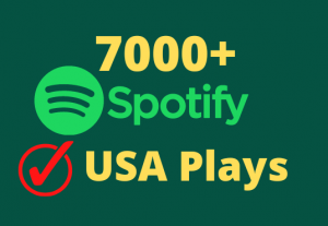 I will give you Organic 7000+ Spotify USA Plays Lifetime Guaranteed HQ Accounts