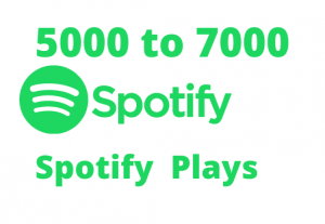 Get 5000 to 7000 Spotify Plays lifetime guaranteed permanently Organic Spotify Promotion