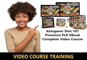 I Will give Ketogenic Diet 101 Premium PLR EBook Complete Video Course