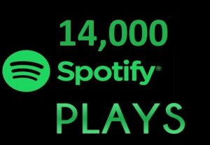 14,000 HQ Spotify Streams Plays Music Promotion