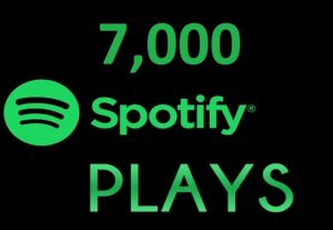 7,000 HQ Spotify Streams Plays Music Promotion