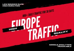 Drive Europe country targeted quality traffic to your website