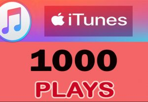 1000 iTunes/ Apple streams/Plays Worldwide